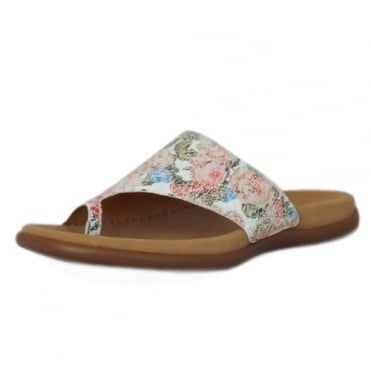 Lanzarote Comfortable Sandal Mules in Flower