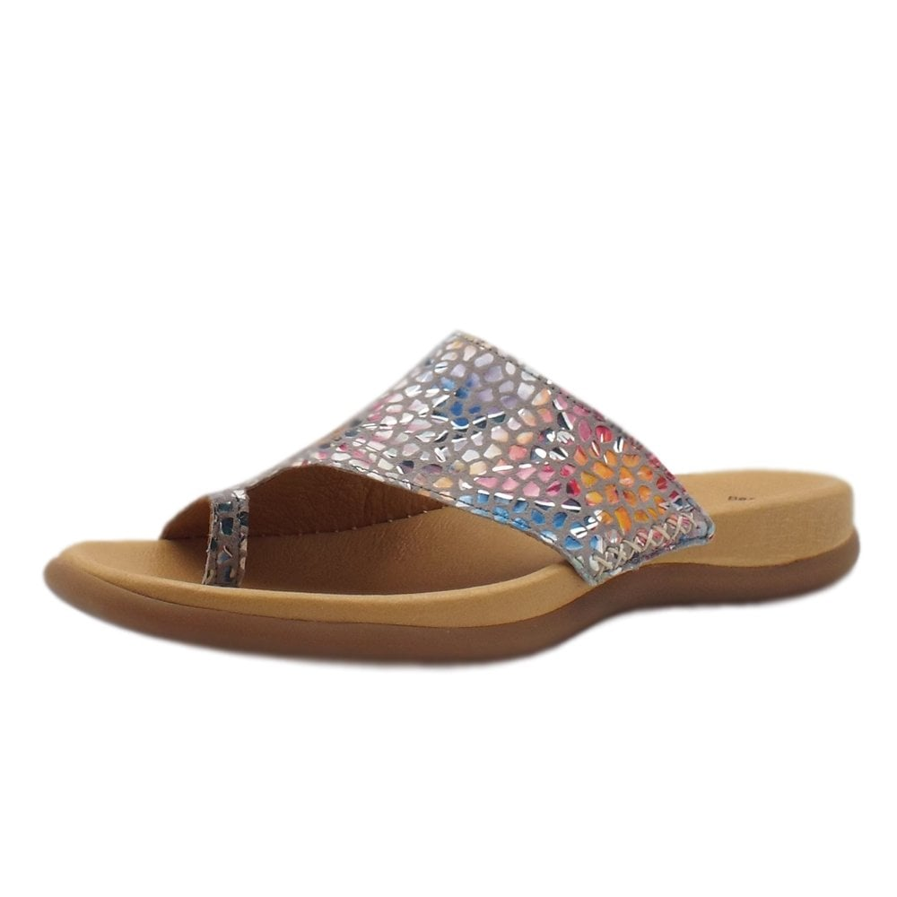 ae2d57b6a Lanzarote Comfortable Sandal Mules in Flower Stone