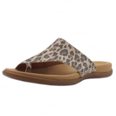 Lanzarote Comfortable Sandal Mules in Leopard