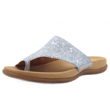 Lanzarote Comfortable Sandal Mules in Sky/Jeans