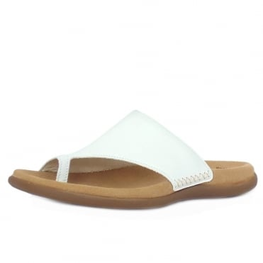 Lanzarote Comfortable Sandal Mules in White