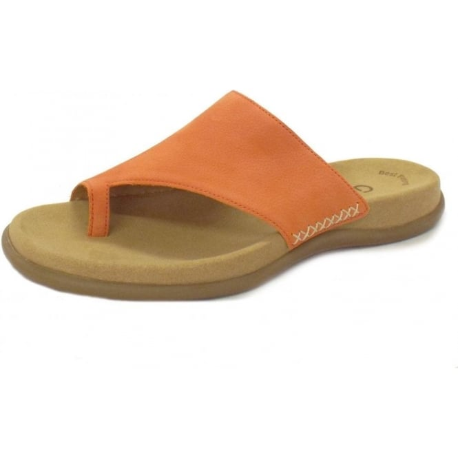 Gabor Sandals Lanzarote Womens Leather Sandals In Orange