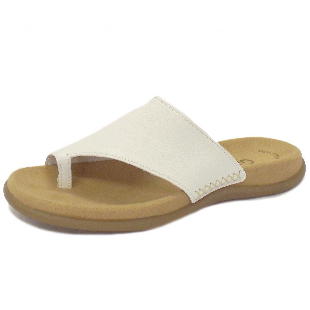 Gabor Sandals Lanzarote Ladies White Leather Mules Mozimo
