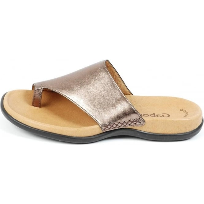 Lanzarote Ladies Wide Fit Sandal In Bronze