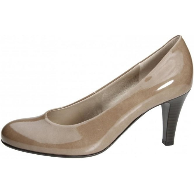 Gabor Lavender Classic Court Shoe In Light Brown