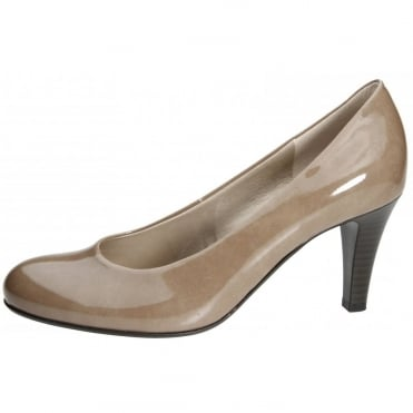 Lavender Classic Court Shoe In Light Brown