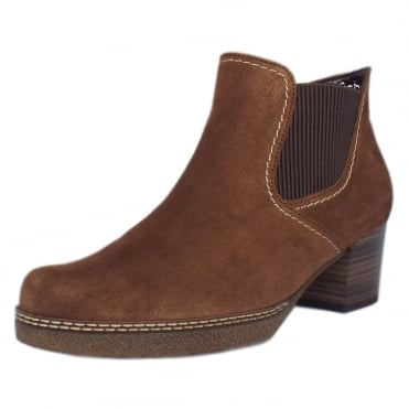 Lilia Modern Wide Fit Ankle Boot in Nut