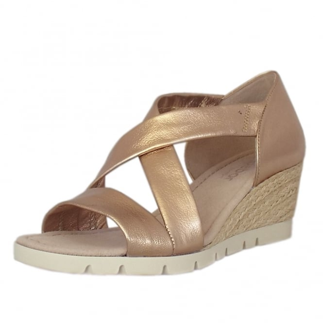 Gabor Lisette Comfortable Wide Fit Fashion Sandals in Altrose