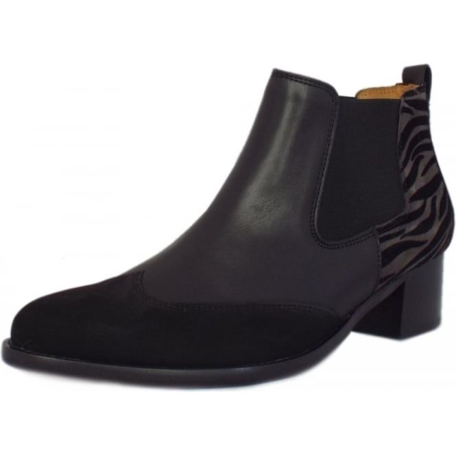 Gabor Lumina Fashion Ankle Chelsea Boots in Black