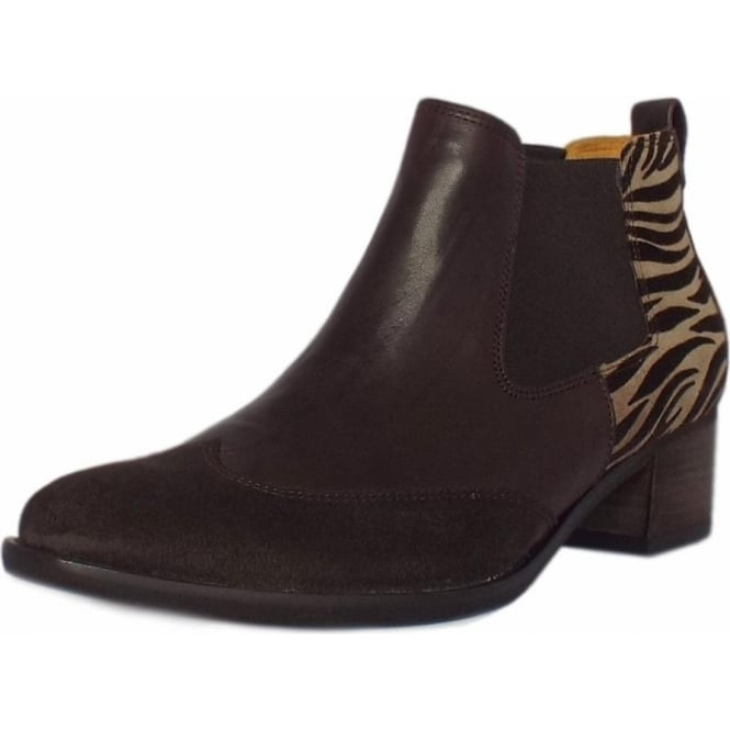 new style f71f0 db7ec Gabor Lumina Fashion Ankle Chelsea Boots in Mocca