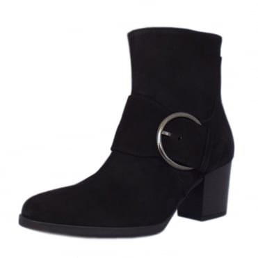 Lush Comfortable Fashion Ankle Boots in Black Suede
