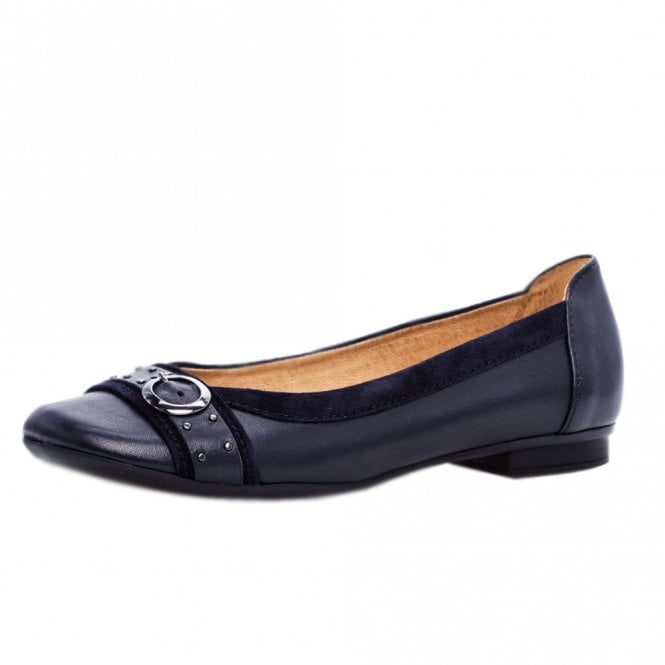 Gabor Michelle Stylish Casual Ballet Pumps in Navy