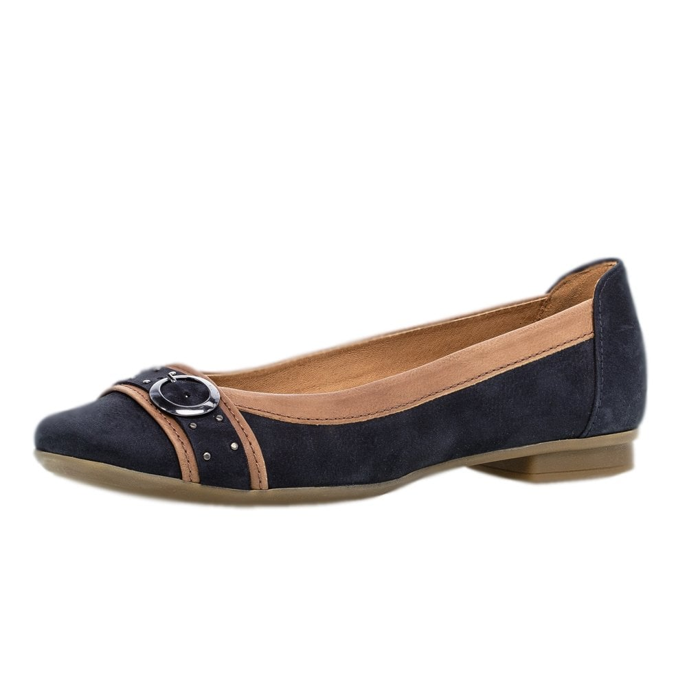 9ae26d08071e86 Gabor Gabor Michelle Stylish Casual Ballet Pumps in Navy