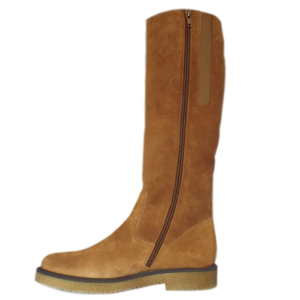 where to buy buy online here Gabor Nadine   Modern Copper Suede Knee High Boots   Mozimo