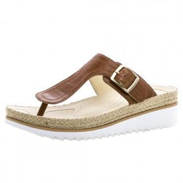 e4cb48d4476f Nandu Modern Slip On Toe Post Sandals in Cognac
