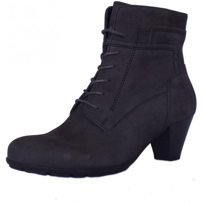 Low Heel Ankle Boots in Grey Suede | Mozimo