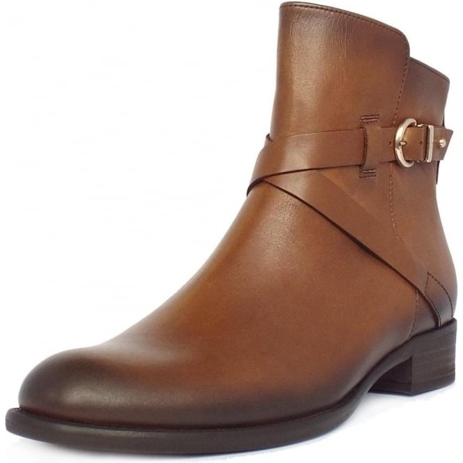 Gabor Nightingale Women's Biker Style Ankle Boots in Tan
