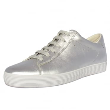 Nutton Modern Wide Fit Sporty Trainers In Silver