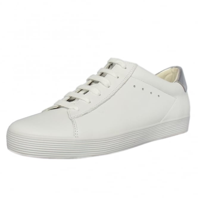 Gabor Nutton Modern Wide Fit Sporty Trainers In White