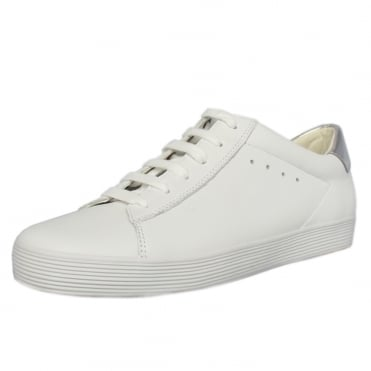 Nutton Modern Wide Fit Sporty Trainers In White