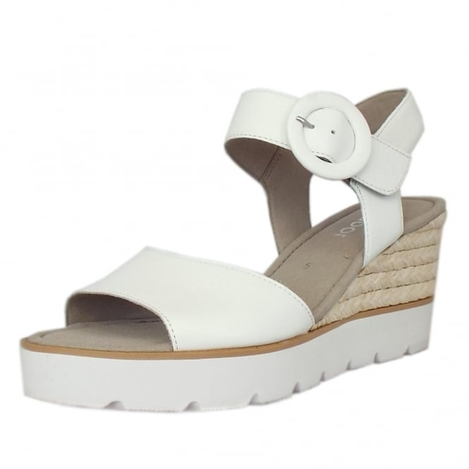 85f4786f9fcf Obession Modern Wedge Sandals in White