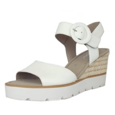 Obession Modern Wedge Sandals in White