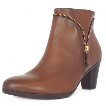 Onida Women's Classic Ankle Boots In Tan Leather