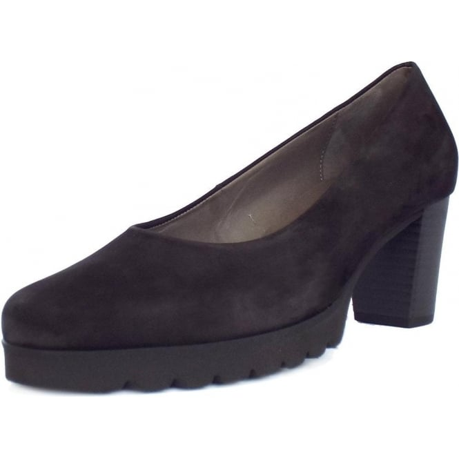 Gabor Patchouli Urban Sporty Court Shoes in Black Nubuck