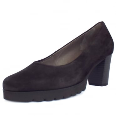 Patchouli Urban Sporty Court Shoes in Black Nubuck