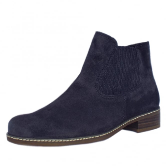 Gabor Pescara Modern Wider Fit Ankle Boot in Night Blue