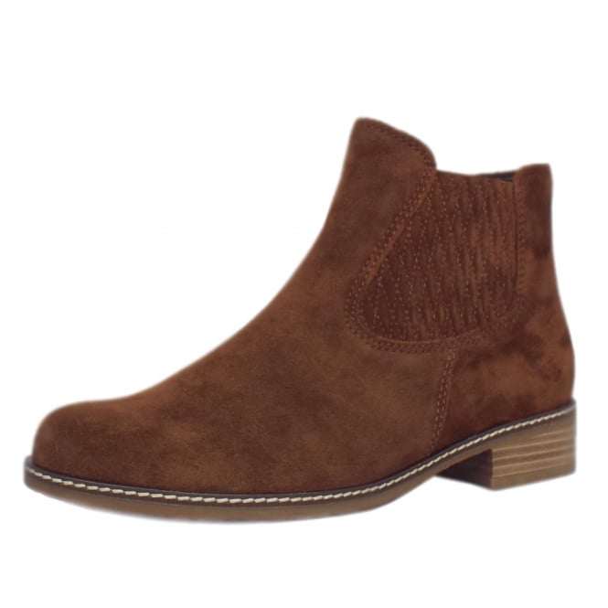 Gabor Pescara Modern Wider Fit Ankle Boot in Whisky