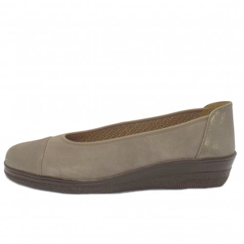 gabor shoes petunia ladies slip on shoe in taupe mozimo. Black Bedroom Furniture Sets. Home Design Ideas