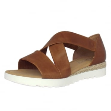 Promise Comfortable Fashion Sandals in Peanut