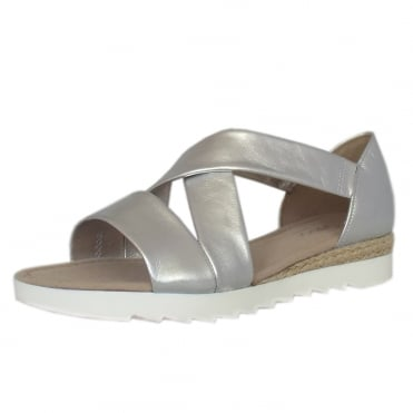 Promise Comfortable Fashion Sandals in Silver
