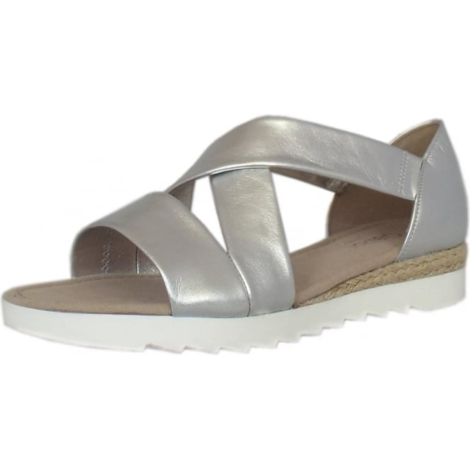 Promise Comfortable Wide Fit Fashion Sandals in Silver 3f4c3afb6491