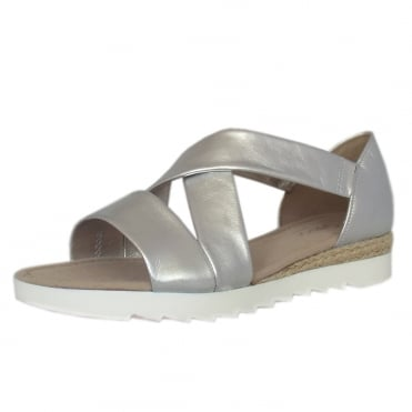 Promise Comfortable Wide Fit Fashion Sandals in Silver
