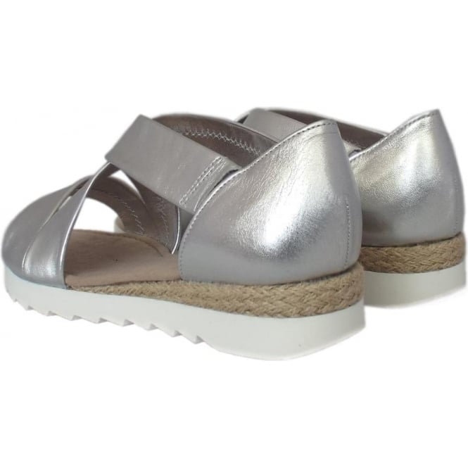 1a6392da1c5 Promise Comfortable Wide Fit Fashion Sandals in Silver