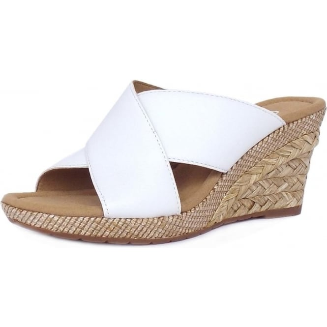 b2541cbfb25f Purpose Modern Wide Fit Wedge Sandals in White