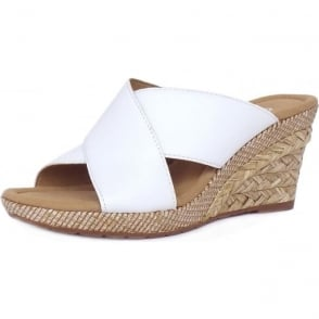 Purpose Modern Wide Fit Wedge Sandals in White