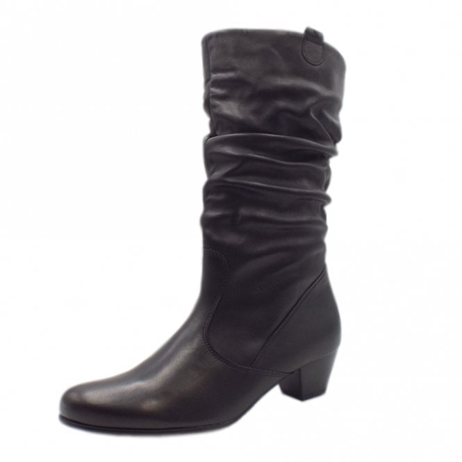 Gabor Rachel Classic Slouch Mid Boot In Black