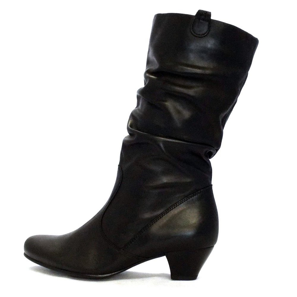 gabor boots slouch mid boot in black mozimo