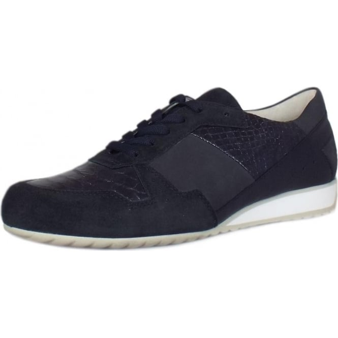 Gabor Raine Modern Wide Fit Sneakers in Navy
