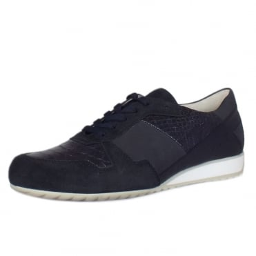 Raine Modern Wide Fit Sneakers in Navy