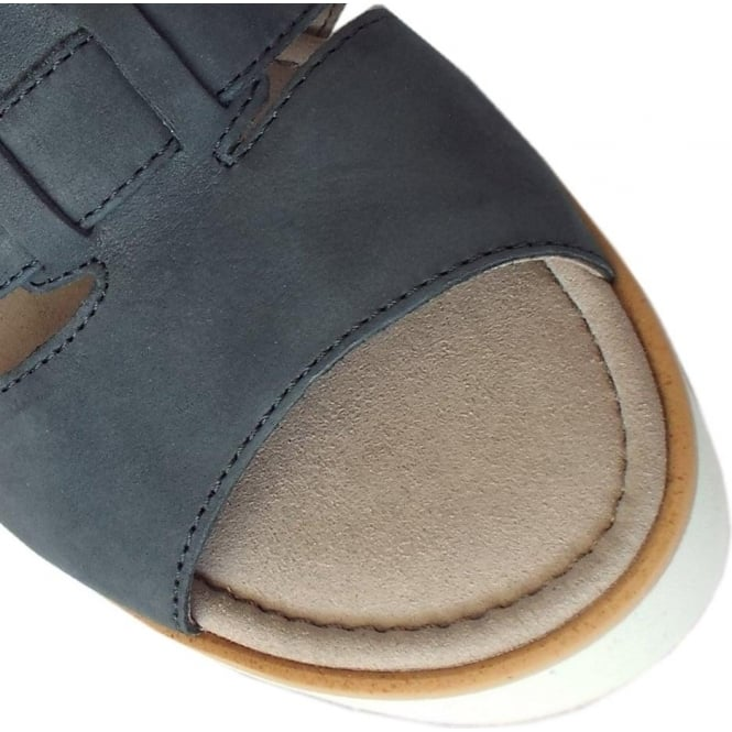08daa06517 Gabor Rhona | Women's Modern Blue Nubuck Wedge Sandal | Mozimo