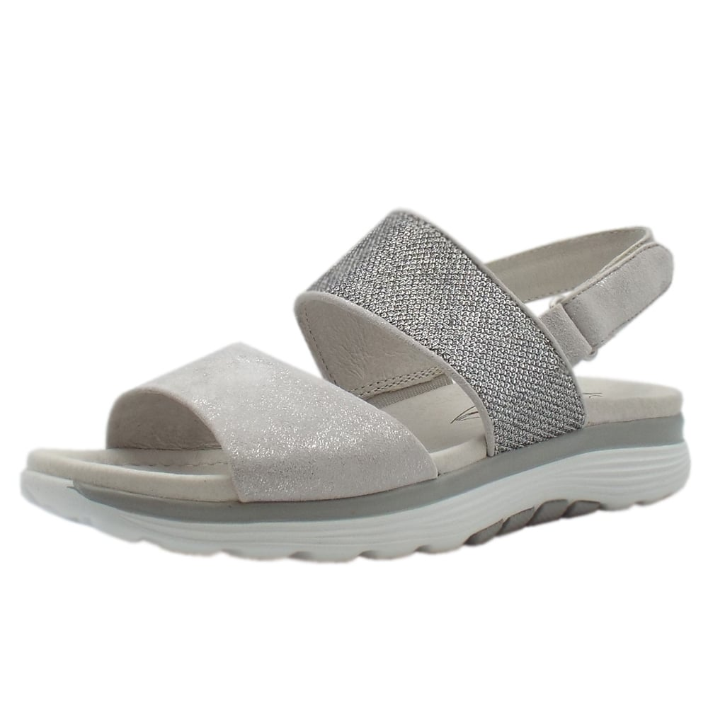 bfe746b0c23504 Gabor Gabor Rollingsoft Sisco Adjustable Sling-back Casual Sandals in Ice