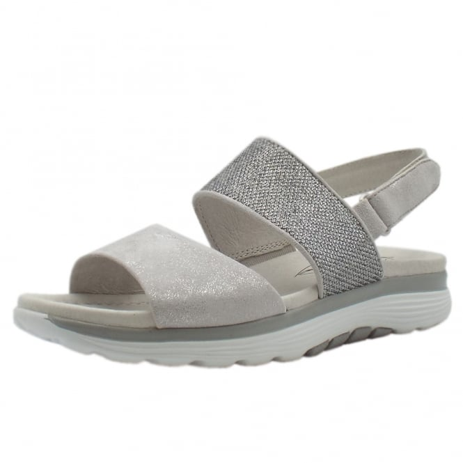 Gabor Rollingsoft Sisco Adjustable Sling-back Casual Sandals in Ice