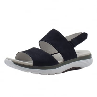 Rollingsoft Sisco Adjustable Sling-back Casual Sandals in Night Blue