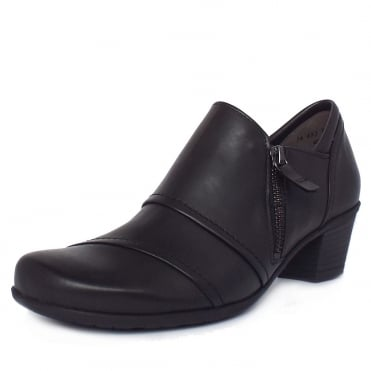 Gabor Roost Modern High Top Casual Shoes in Black Leather