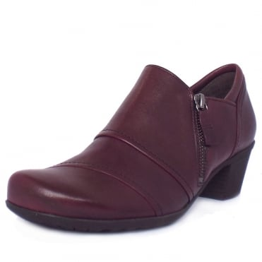 Gabor Roost Modern High Top Casual Shoes in Merlot Wine Leather