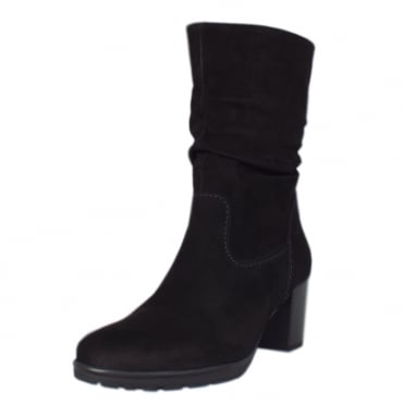 Rotterdam Fashion Slouch Mid Boot in Black